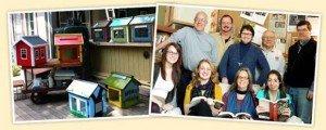 Photo de droite, en haut en partant de la gauche, Rick Brooks et Todd Bol, les deux co-fondateurs de Little Free Library © Littlefreelibrary