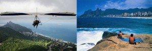 Le deltaplane et le surf sont deux sports reposant sur les qualités environnementales de la cité carioca.