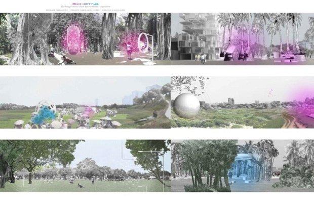 Le parc  accueille trois parcours le long desquels les végétaux et les machines modifieront le climat. ©Jade Eco Park, Taichung, Taiwan, 2012-2016 Philippe Rahm architectes, Mosbach paysagistes, Ricky Liu & Associates