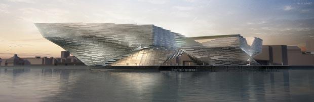 Le futur musée du design de Dundee, résolument moderne, a été conçu par l'architecte japonais Kengo Kuma. © Kengo Kuma