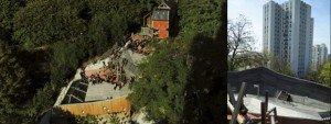 Adossée à la colline, l'aire de jeu du parc de Belleville à Paris, s'insère dans la topographie du terrain. Conçue par les architectes et paysagistes de l'agence BASE, elle ouvre des perspectives sur ce qu'un designer pourrait faire.