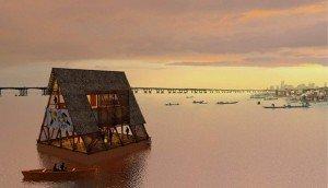 L'aménagement de l'école flottante de Makoko est une chance pour une communauté longtemps menacée d'expulsion par le gouvernement nigérian. Copyright : © NLÉ Works