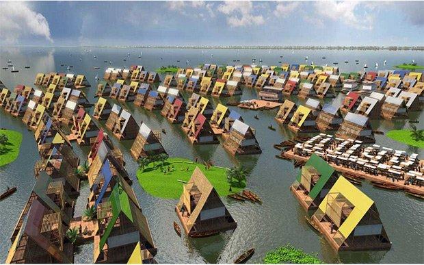 L'école de Makoko n'est encore qu'un prototype qui pourrait servir à la construction de dizaines d'autres structures similaires. Copyright : © NLÉ Works