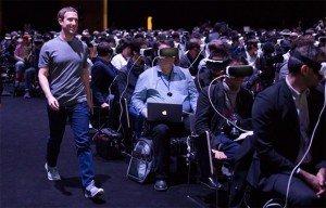 Le patron de Facebook, Mark Zuckerberg, lors du MWC 2016 de Barcelone, le 21 février 2016. - FACEBOOK