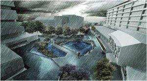 projet Benthemplein Rotterdam eau