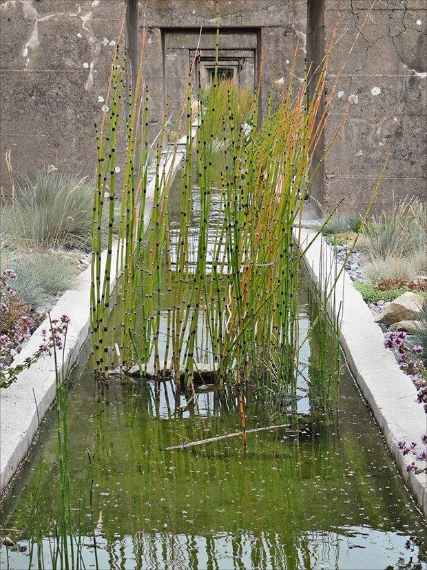 Le jardin du Tiers-Paysage, œuvre de Gilles Clément pour revaloriser la base sous-marine de Saint-Nazaire (c) Jean-Pierre Dalbéra