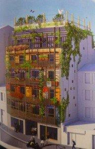 « Le Veilleur de Belleville » défend l'idée d'habitat solidaire © Datoo Architecturen, Agota Nagy architecte