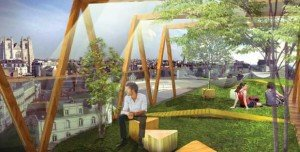 « L'écharpe » : créer de nouvelles activités sur la Place de Bretagne (c) Gabriel Gavira