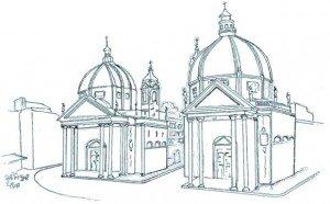 La place publique, un espace urbain mythique à se réapproprier (ici Piazza del Popolo, Rome) (c) Gabriel Gavira