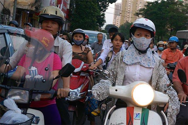 Mobilité Hanoi utilisation massive de mobilitettes