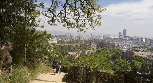 barcelone piste cyclable parc mirador