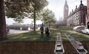Les berges de Londres pourraient être végétalisées grâce au projet CarTube. © PLP Architecture