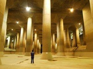 reservoir du Metropolitan Area Outer Underground Discharge Channel au Japon