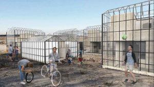 Ce concept d'habitat temporaire pour les réfugiés permet de mieux les accueillir.