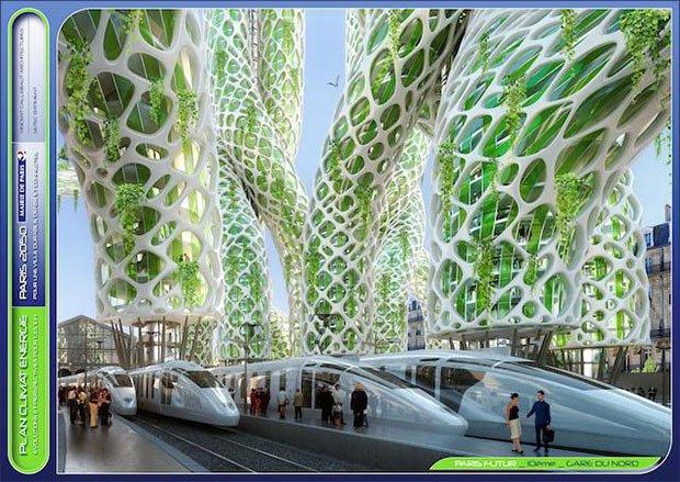 Exemple d'un projet architectural à Gare du Nord, Paris. Crédits : Vincent Caillebaut