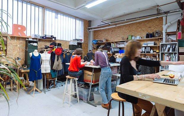 Atelier Textile proposé dans le Fablab d'ICI Montreuil