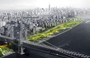 Le projet baptisé Big U protègera la pointe sud de Manhattan des inondations et des eaux pluviales. © BIG