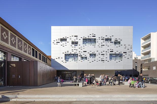 quartier pôle educatif espace scolaire tissu urbain