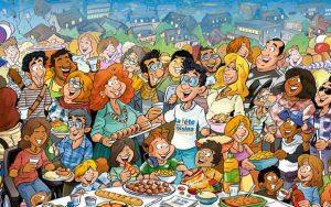 La fête des voisins permet aux habitants d'un quartier de se rencontrer et se rapprocher.