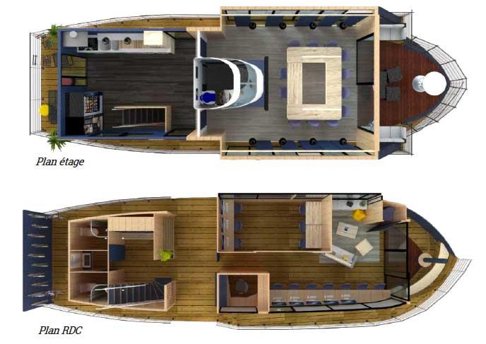 Un bateau permettrait de développer le travail nomade et flexible.