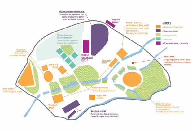 Le site olympique de Londres a été pensé comme un quartier urbain mixte.