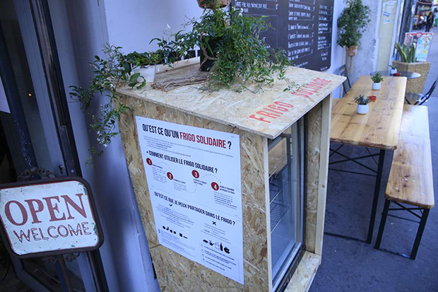 frigo solidaire gaspillage alimentaire