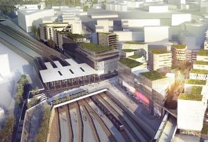 gare multimodale du nouveau quartier nanterre coeur universite
