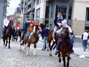 Les chevaux en ville sont devenus rares.