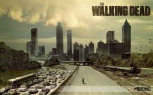 Le premier épisode de la série The Walking Dead met en scène un héros à cheval.