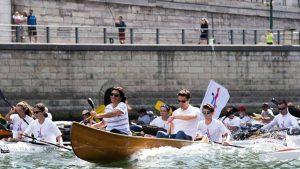 Anne Hidalgo et Tony Estanguet défendent la candidature de Paris aux JO 2024.