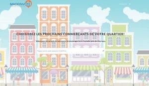 homepage du site madeinvote