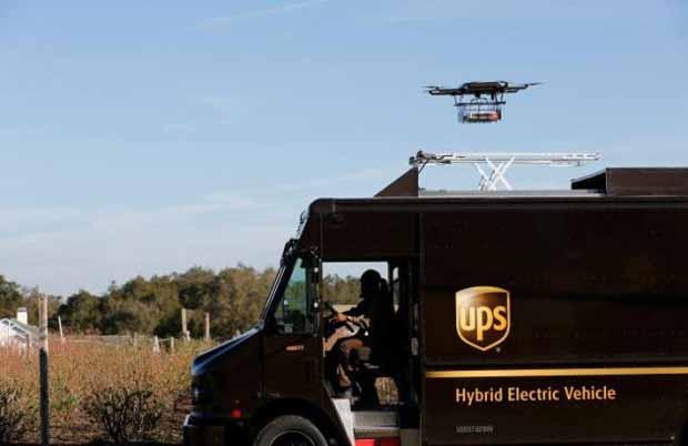 Le camion UPS équipé d'un drone