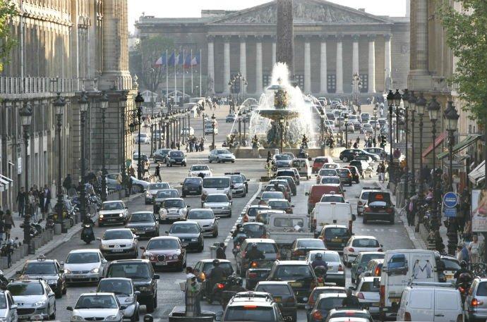 Embouteillage à Paris