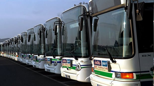 file de bus