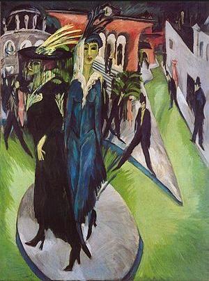 Le tableau Potzdamer Platz de Kirchner montre l'espace urbain comme un concentré d'anxiété