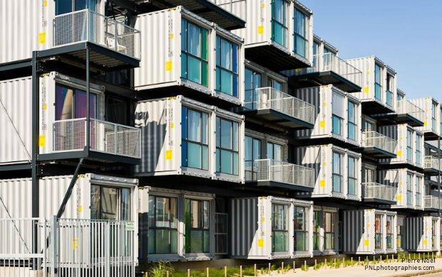 Les logements étudiants en containers, au Havre