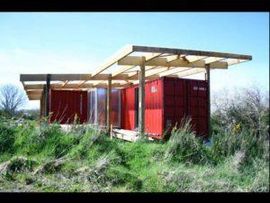 Maison individuelle réalisée par Catherine Rannou sur la base de conteneursv
