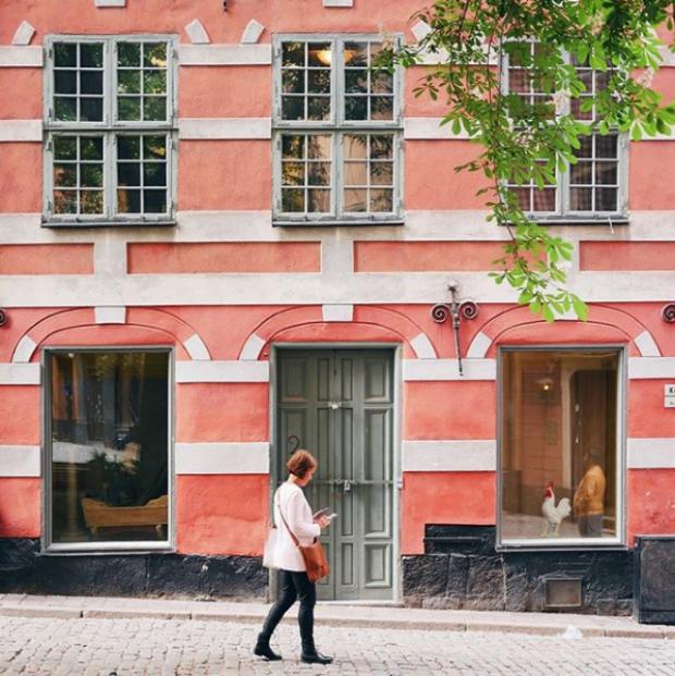 Une maison colorée à Stockholm