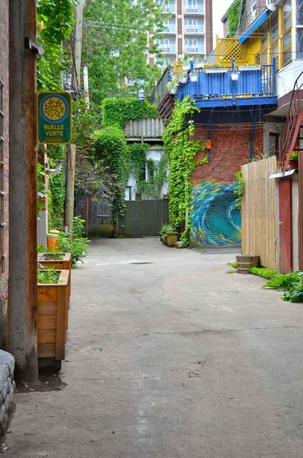 Les ruelles vertes se développement à Montréal.