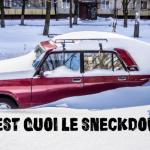 Une voiture sous la neige