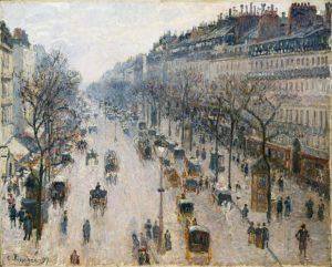 un tableau montrant une ville peint par picasso