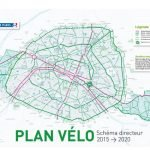 Carte du plan velo de Paris