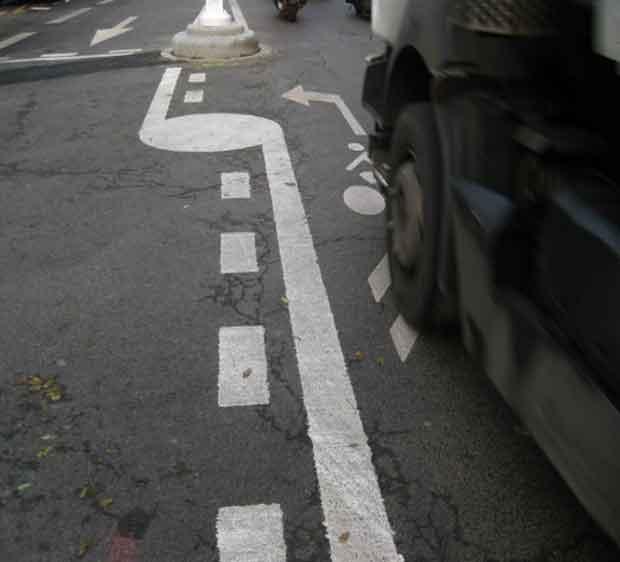La place du vélo dans la ville est encore à améliorer.