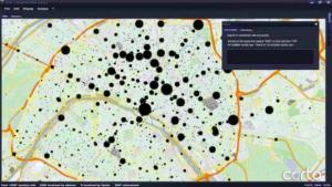 Capture d'écran de l'application de cartographie Corto