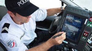 Écran de contrôle du système LAPI policier