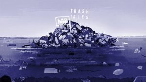 iles detritus poubelle recyclage