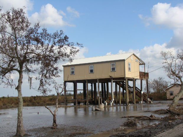 Isle à Jean Charles après le passage de l'ouragan Gustav