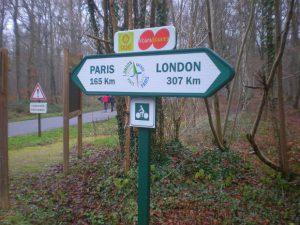 Panneau de signalisation de pistes cyclables