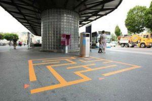 Jeu de poubelles à Lucerne en Suisse
