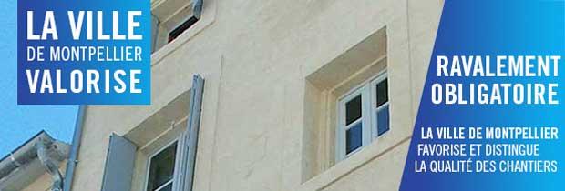 Les immeubles du centre de Montpellier ont subi un ravalement de façade.